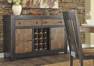 Emerfield Two Tone Brown Dining Room Server