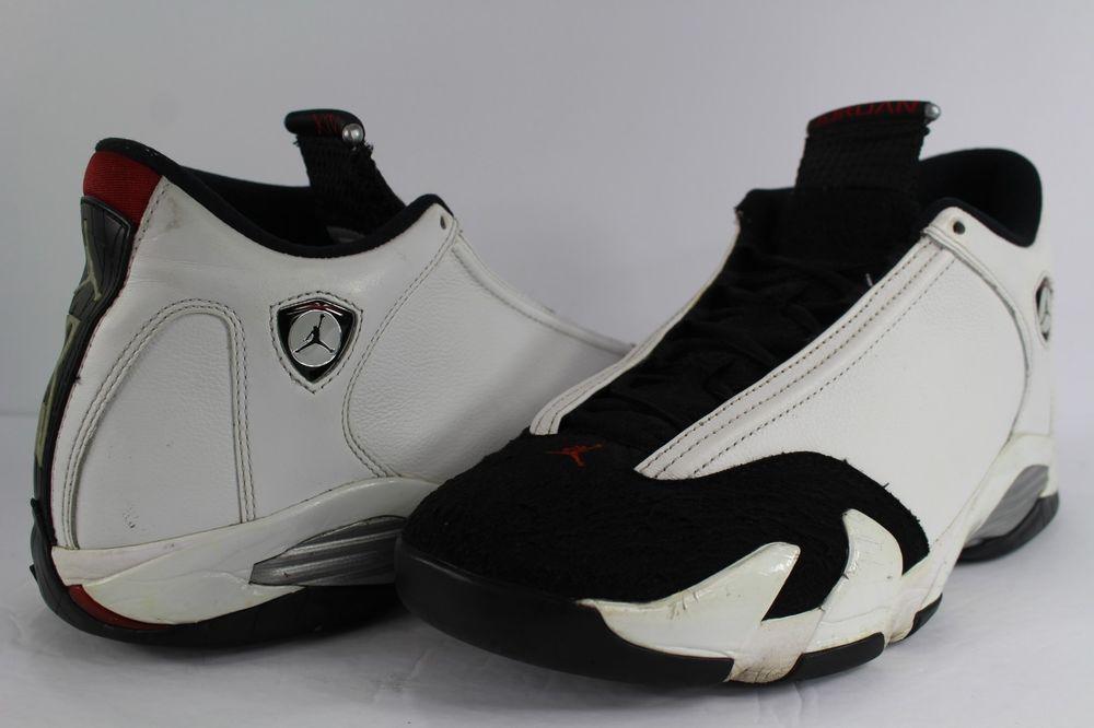 finest selection 1c320 3b484 Nike Air Jordan Retro XIV 14 Black Toe White Varsity Red Size 11 Lot   fashion  clothing  shoes  accessories  mensshoes  athleticshoes (ebay link)