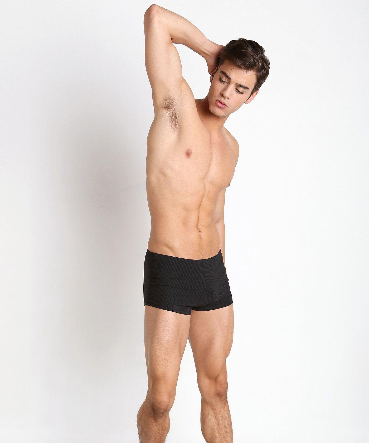 c526d4cb Hugo Boss Tilefish Swim Trunk Black 50296049-006 at International Jock  Underwear & Swimwear