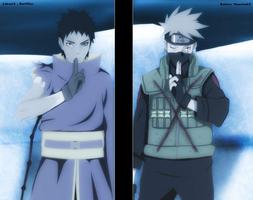 Naruto 636 Kakashi Vs Obito By Yamegero Kakashi Naruto Anime Naruto