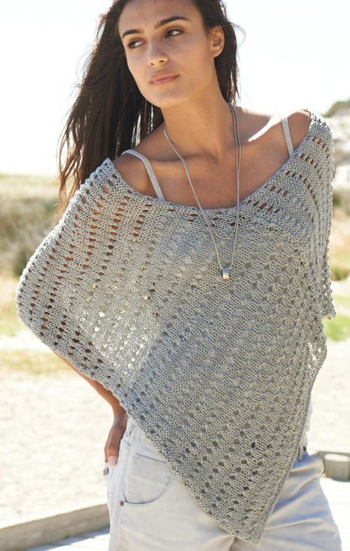 Sommer poncho | knitting and crochet | Pinterest | Sommer, Stricken ...