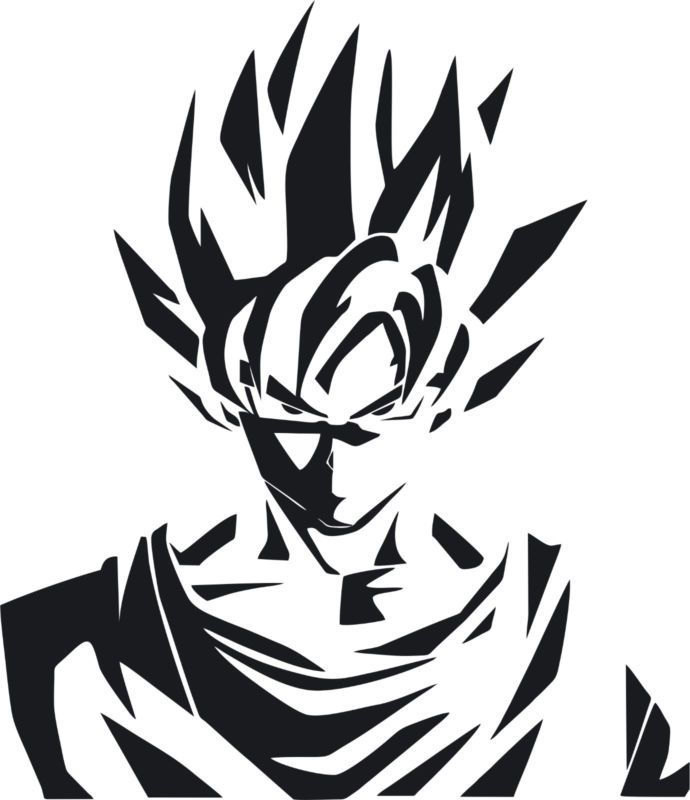 Decal Vinyl Truck Car Sticker DBZ Dragon Ball Z Goku Super Saiyan