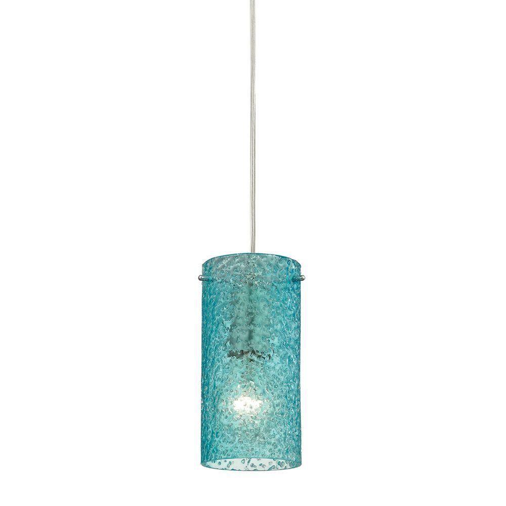 Titan Lighting Ice Fragments 1-Light Satin Nickel Pendant   Lights ...