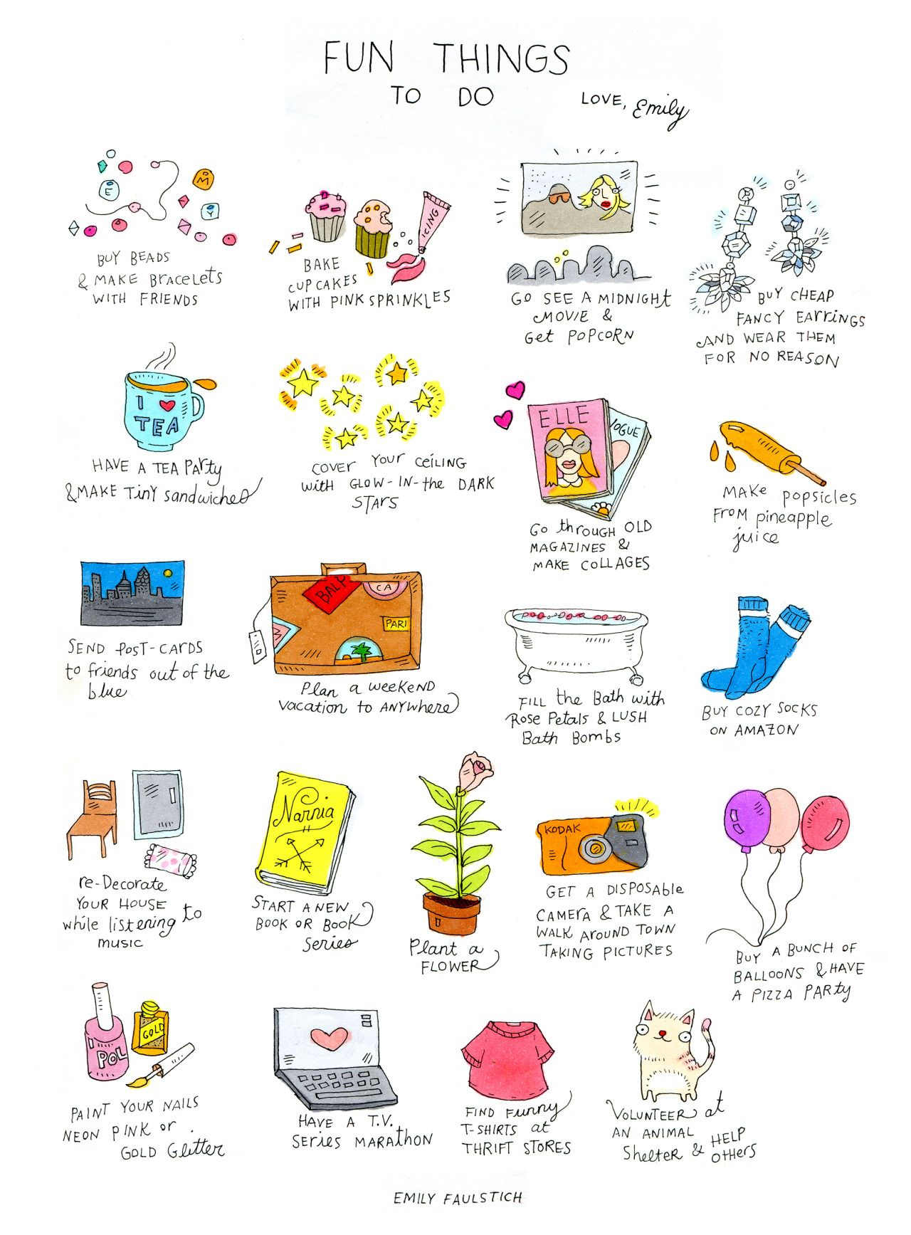 coconut - Here is a List of Fun Things To Do, Love Emily...