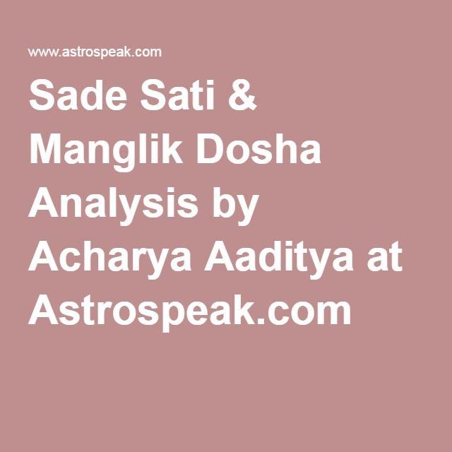 Sade Sati & Manglik Dosha Analysis by Acharya Aaditya at