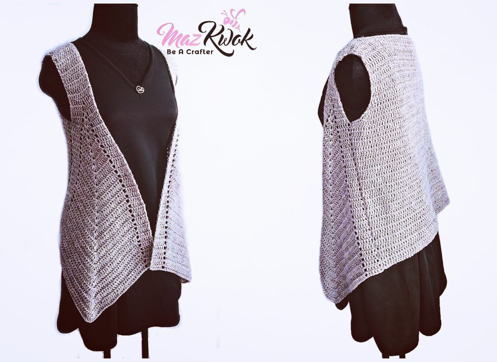 Crochet pointed hem vest (version 2) | My Crochet Designs ...