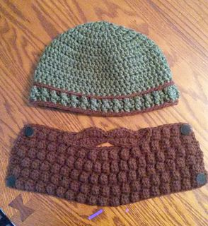 Bearded Beanie pattern by Jolene Bessant #crochetedbeards