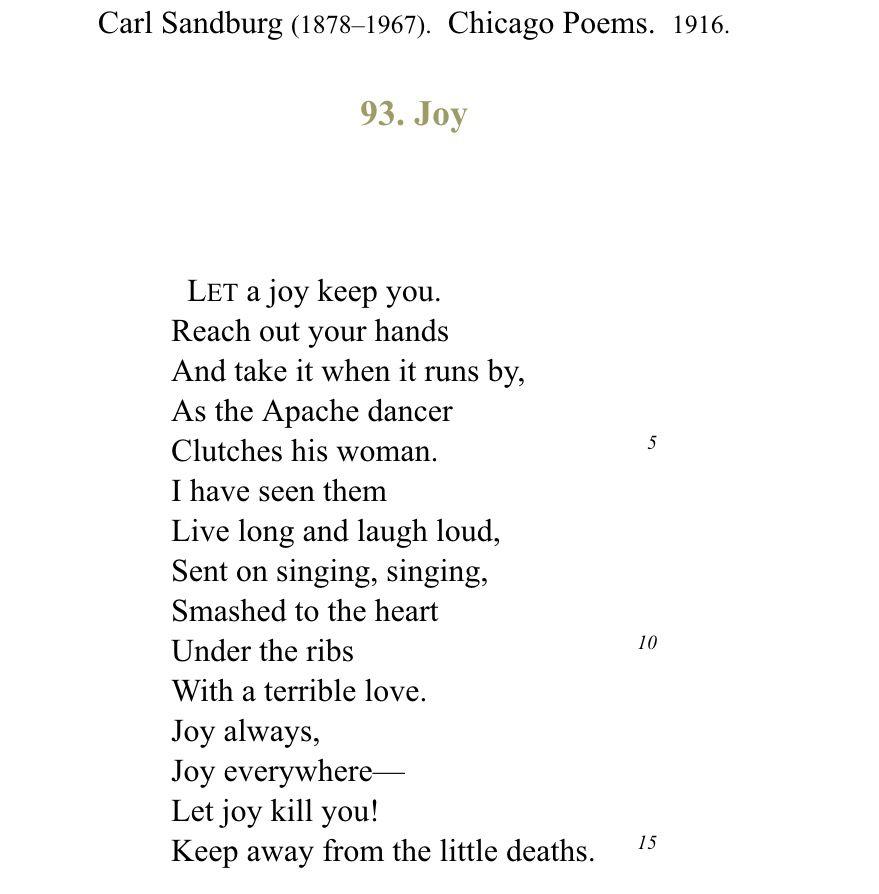 carl sandburg poems