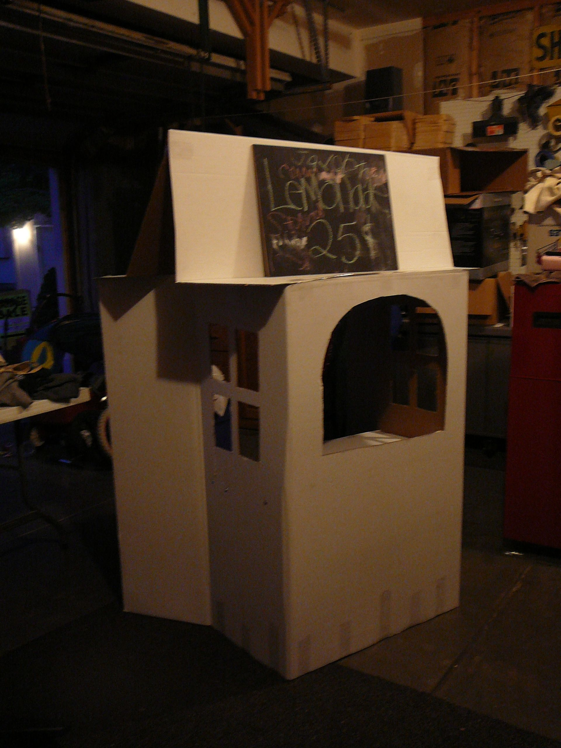 Lemonade Stand Made Out Of Cardboard The Kids Can