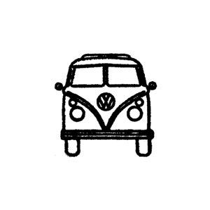 Vw Volkswagen Bus Front End Rubber Stamp By Terbearco On Etsy