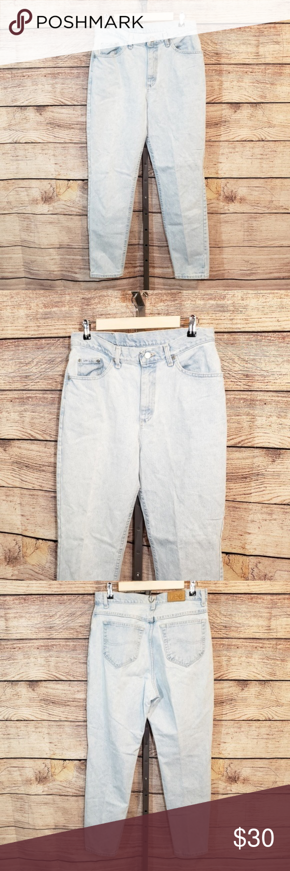 c77bfd35 Lee 90s Vintage High Waisted Mom Jeans light wash Light Wash Vintage 90's  high waisted straight