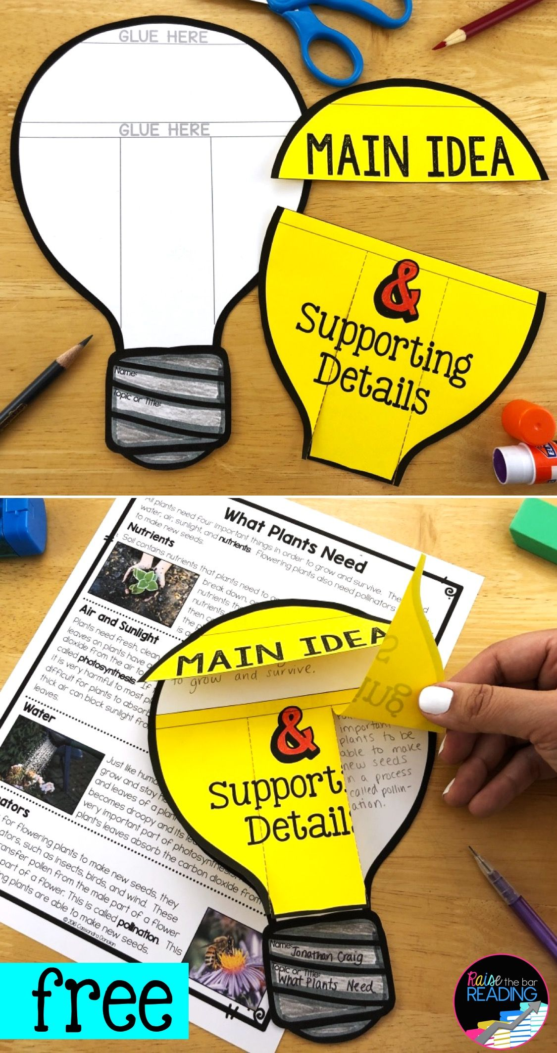 Reading Comprehension Craft Main Idea And Details