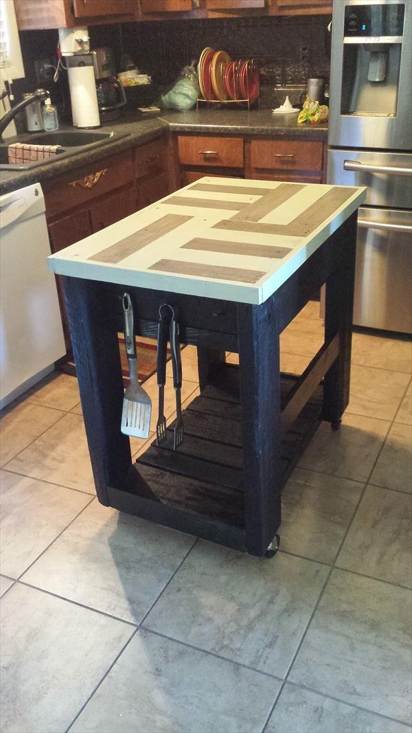 Kitchen Island Table Diy diy pallet and barn wood kitchen island table   furniture, kitchen