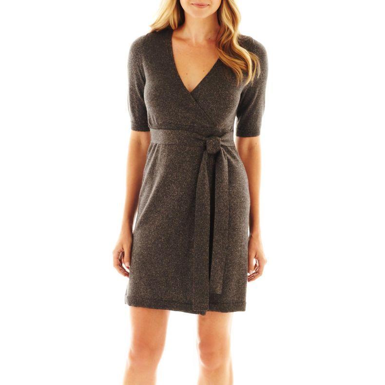 d1812a5d6a jcpenney - Liz Claiborne Faux-Wrap Sweater Dress - jcpenney ...