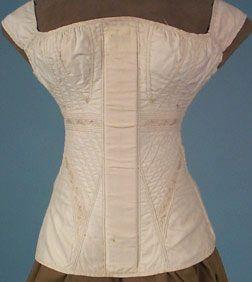 White cotton stays, c.1825