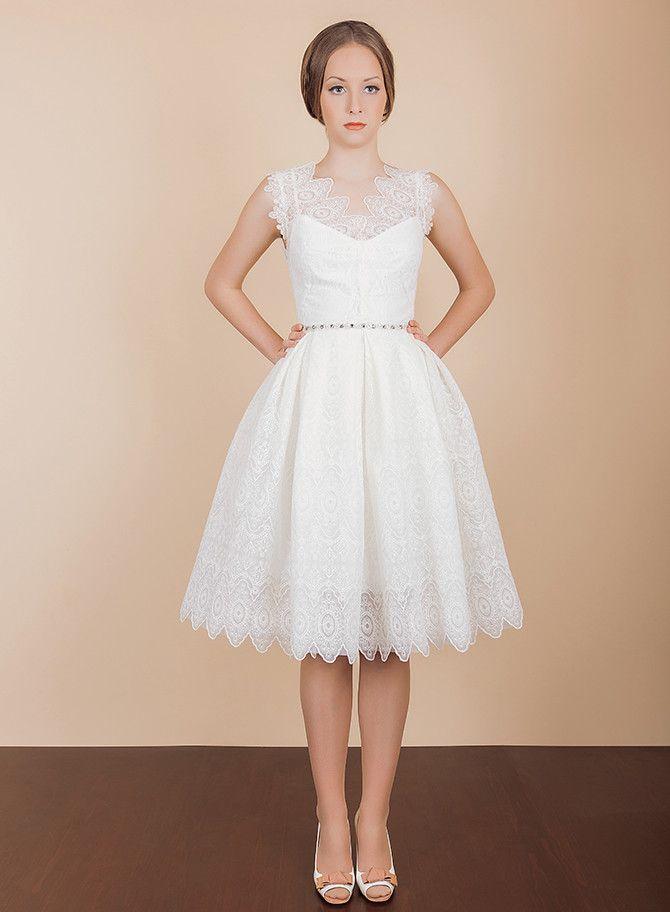 Best 25 Short Vintage Brautkleider Ideen auf Pinterest Short Short ...