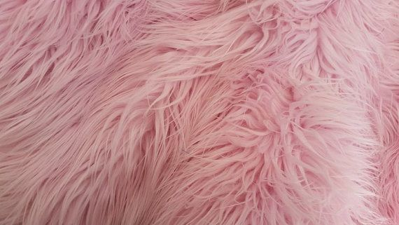 Light pink shaggy mongolian faux fur craft by for Fur wallpaper tumblr
