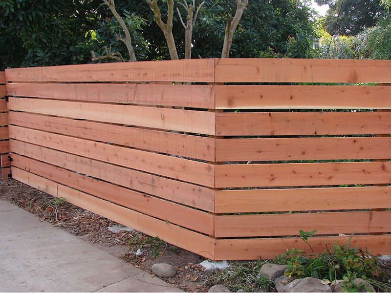 Horizontal Wooden Fences Fence Factory Wood Fence