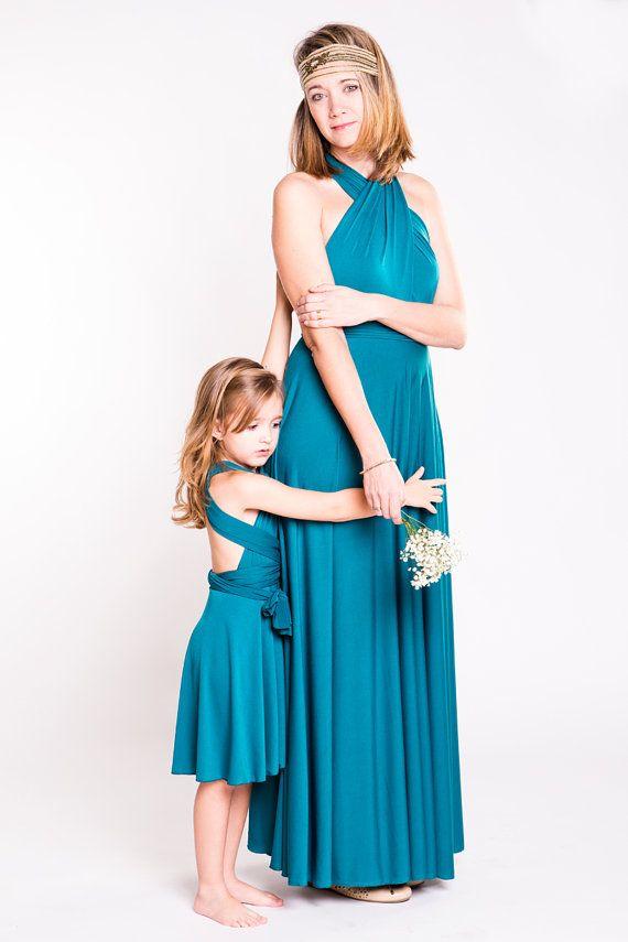 Passende Mutter Tochter vielseitig Kleider, Blumenmädchen ...