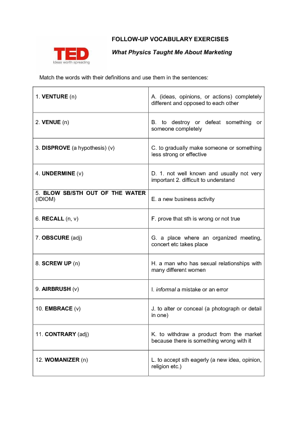 Movie Worksheet Ted What Physics Taught Me About
