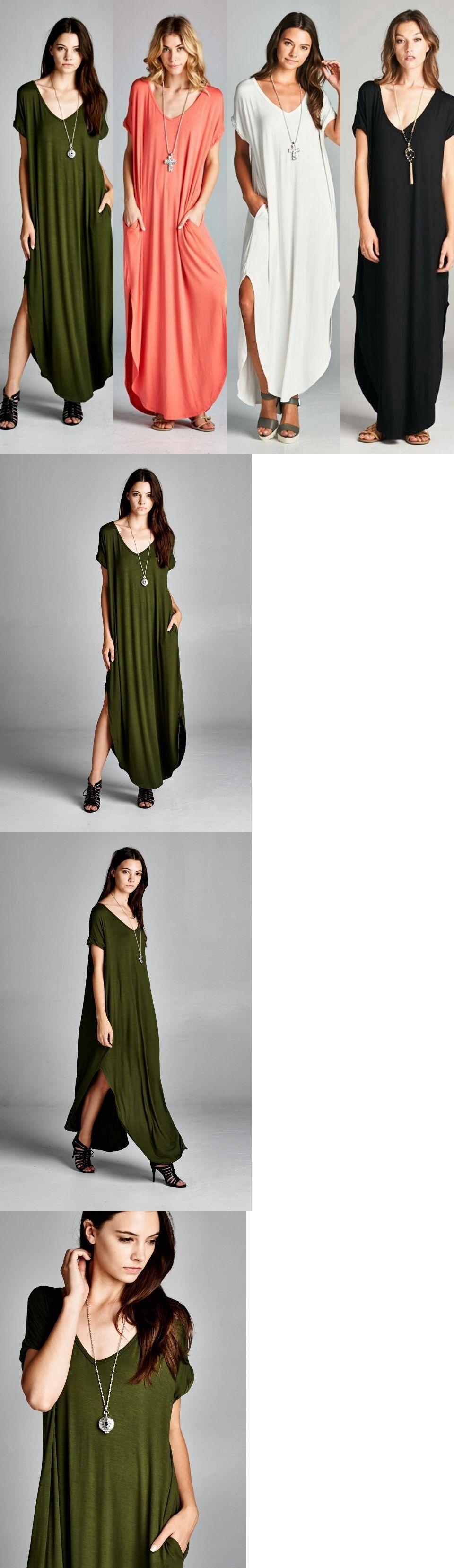 Women fashion oversize maxi tshirt dress short sleeve loose fit