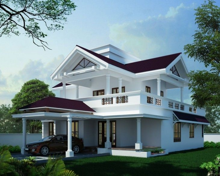 1600 Sq Ft 4 Bedrooms Home Elevation Plans In Kerala Kerala House Design House Roof Design Roof Design