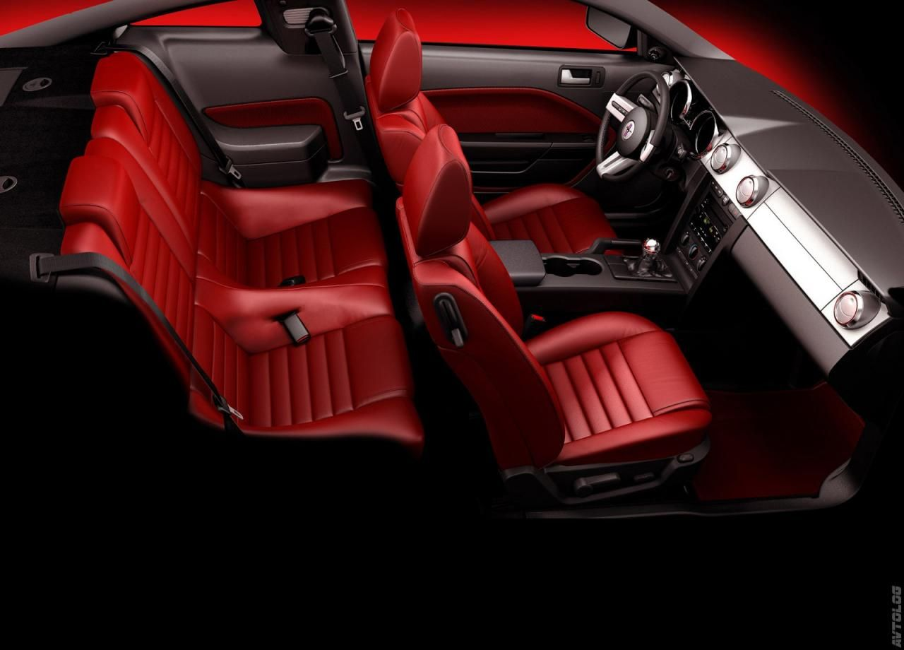Ford Mustang Red Interior