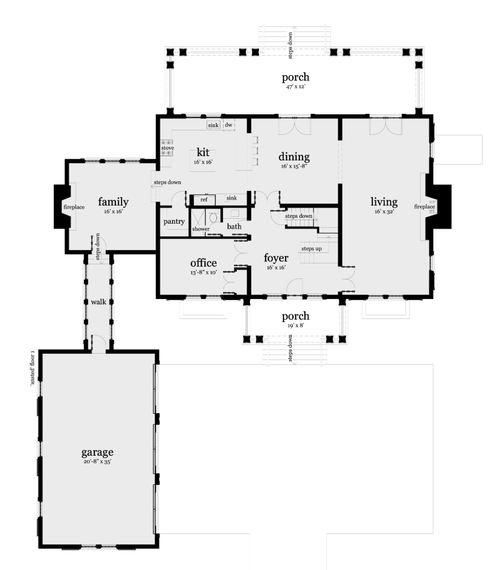 Big Traditional Stone House 3722 Square Feet Tyree House Plans Stone House Plans Stone House Porch House Plans