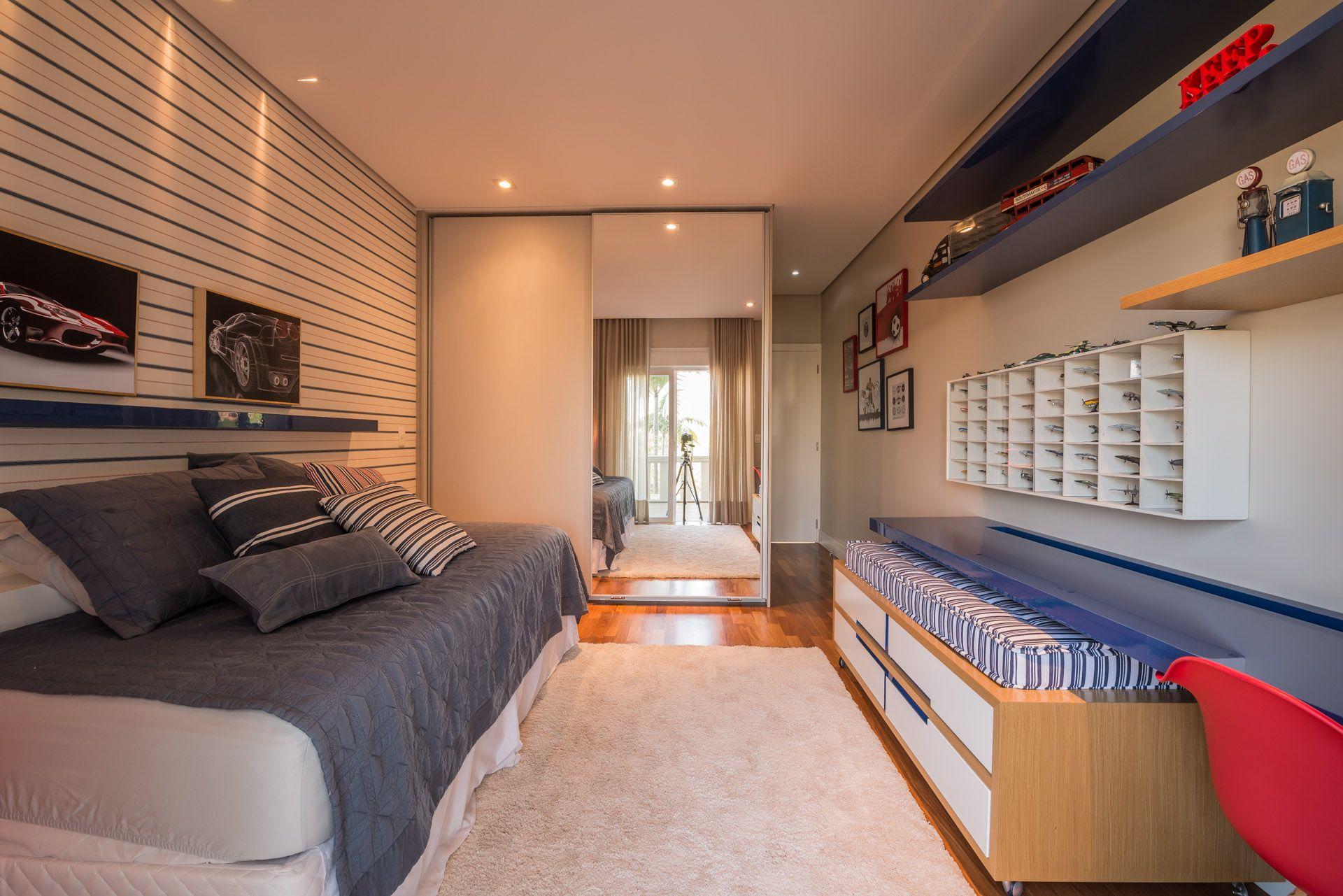 Projeto Juliana Stefanelli Arquitetura Casa Swiss Dormitório Quarto Menino Interior Design Decoração