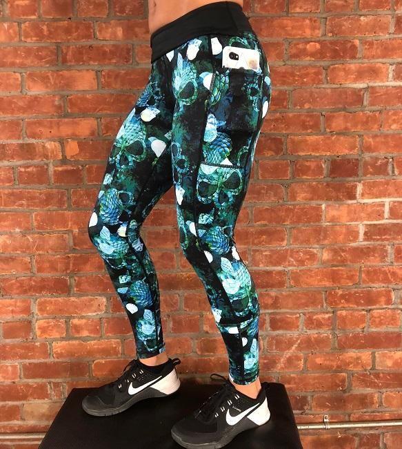 5075a3994293ea Mermaid Skull Leggings in 2019 | Motivation | Skull leggings ...