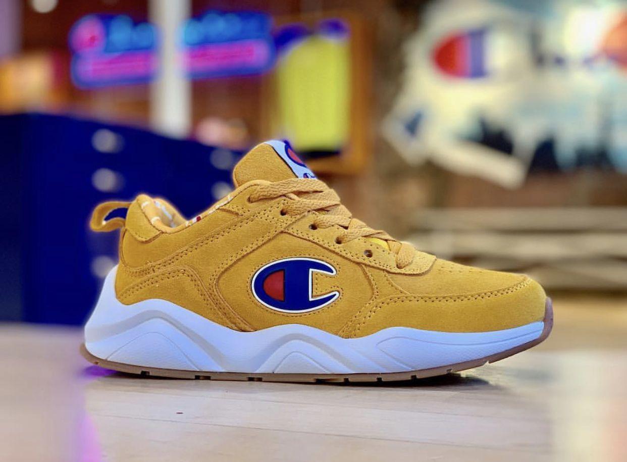 Yellow champion 93eighteen sneakers