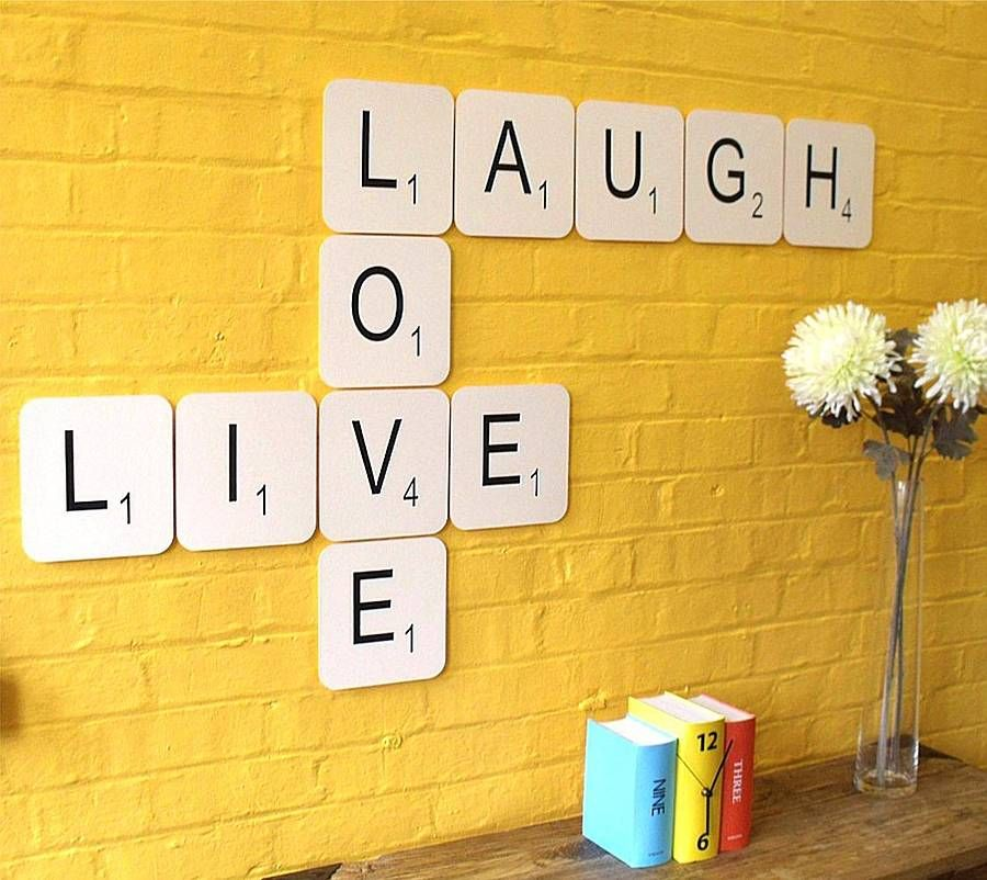 Live Laugh Love\' Giant Scrabble Wall Tiles | Scrabble, Scrabble ...