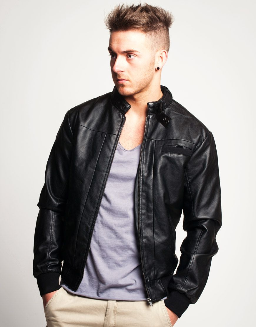 Explore Real Leather, Men's Leather, and more! Leather bomber jacket - Leather Bomber Jacket Men's Leather Fashion Pinterest