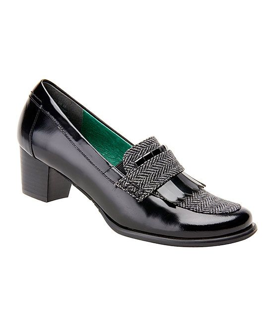 349a3a1a2722 Black Amy Leather Pump Ros Hommerson