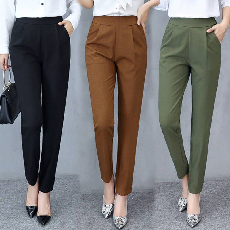 Cheap Pantalones Y Pantalones Capri Buy Directly From China Suppliers Primavera Vera Pantalones De Vestir Mujer Ropa Semi Formal Mujer Pantalon De Vestir Dama