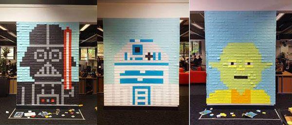Büro Verschönerung Mit Post Its Teil 2 Großraum Pinterest
