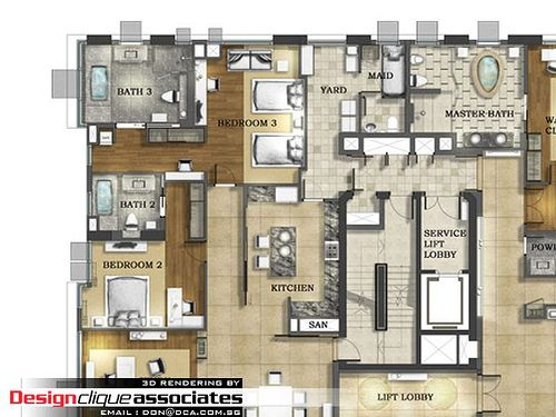2D Layout Plan Rendering By Singapore 3D Interior Design Via Flickr