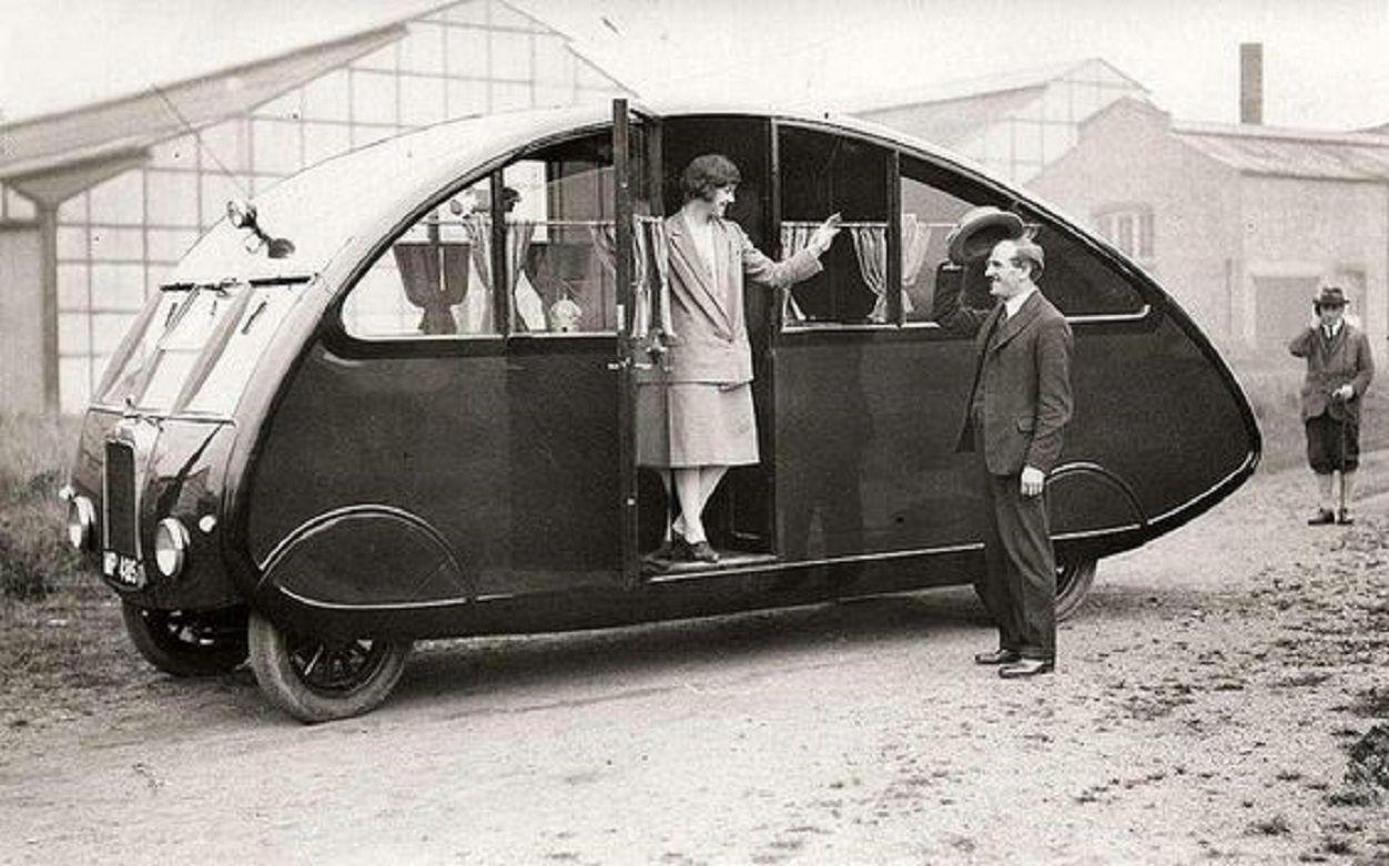 Londen 1927 Camping Auto Coole Caravans Kampeerwagens Teardrop Camper