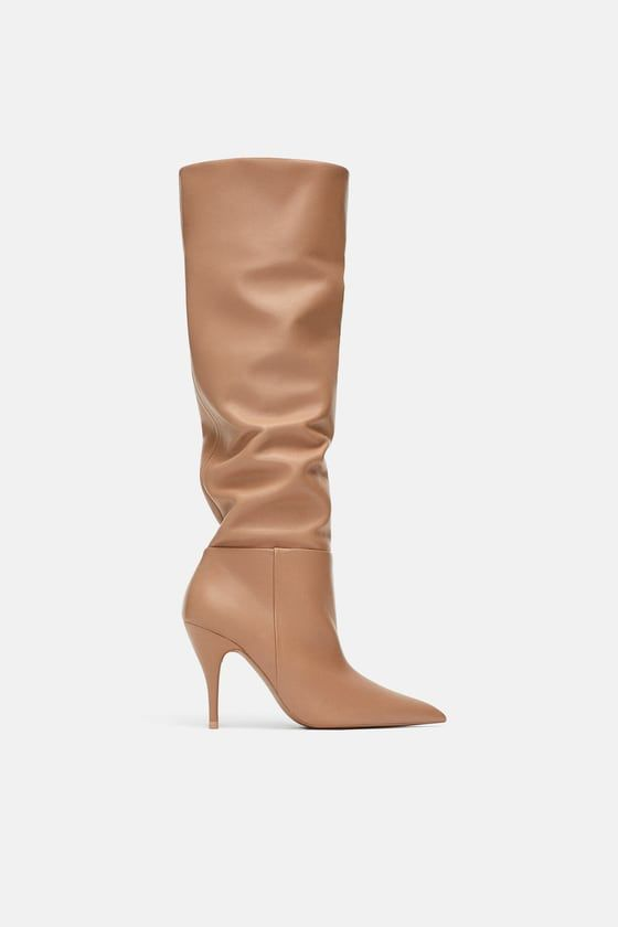 aed1a960459 Image 2 of SOFT LEATHER HIGH-HEEL BOOTS from Zara | wishes / in 2019 ...