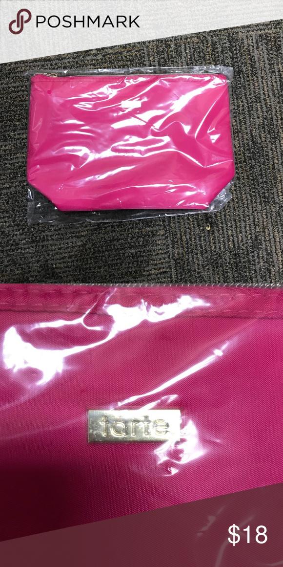 Nwt Tarte Makeup Bag Hot Pink Color 10 5 W X 7 L No Trades Bags Cosmetic Cases