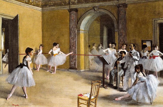 Edgar Degas - Dance Studio at the Opera, 1872 at Musée d'Orsay Paris France by mbell1975, via Flickr