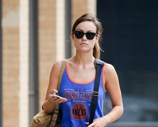 9e8ac93d6aa Olivia Wilde Wearing Ray-Ban RB4168 METEOR Sunglasses in New York http