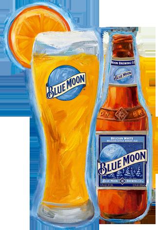 Belgian White Belgian Style Wheat Ale Blue Moon Beer Belgian Style Blue Moon