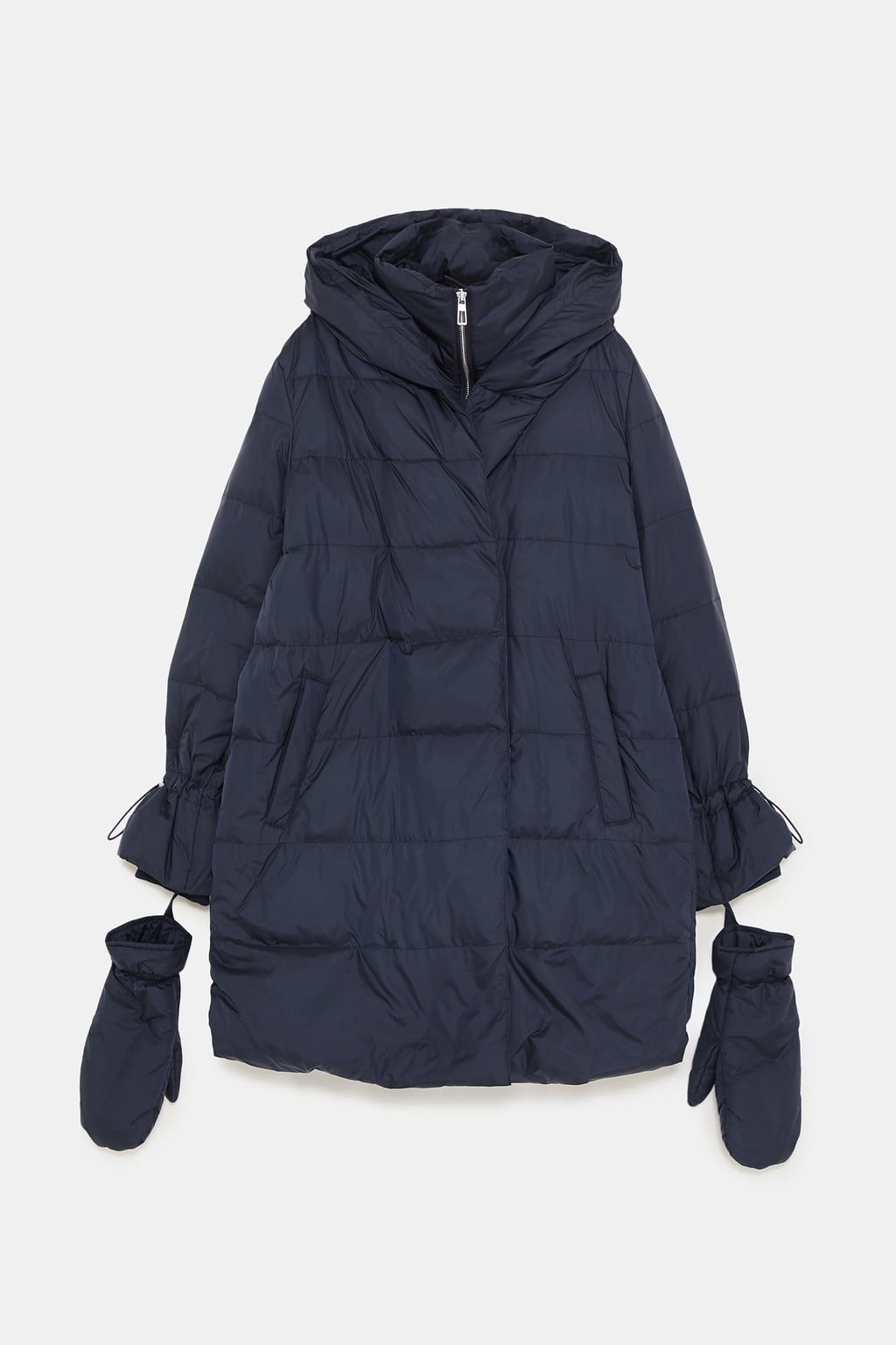 386da44f Image 9 of DOWN COAT WITH WRAP COLLAR from Zara | Outerwear pj ...