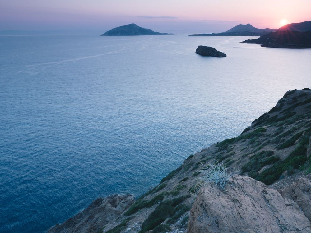 Sunset over the Aegean Sea  / Cape Sounion
