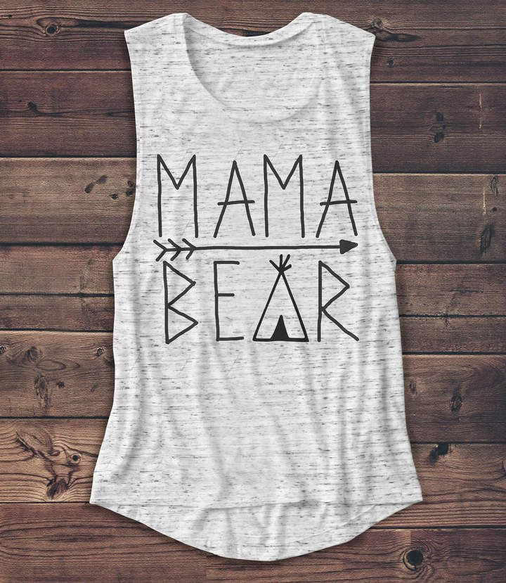 5a260439219 Etsy Mama Bear - Women s Muscle Tee - Muscle Tank - Mother s Day Shirt -Mom  - Coffee - Graphic Tee - Fash