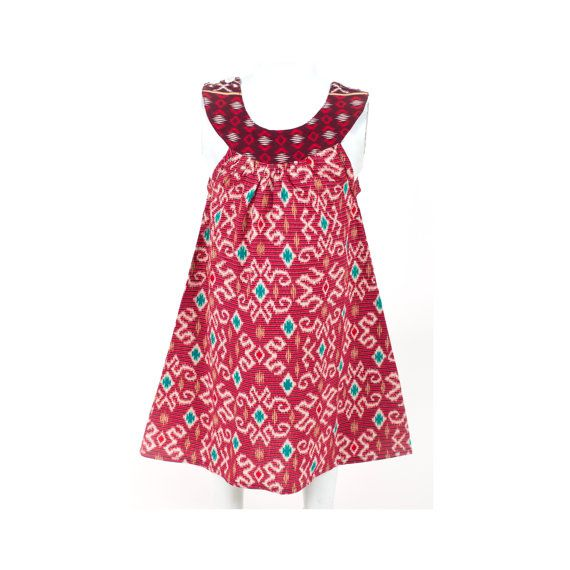 4e75f79207b Batik Dress   Ikat Dress   Girls Dress   Baby Girl by TinyTotsKids ...