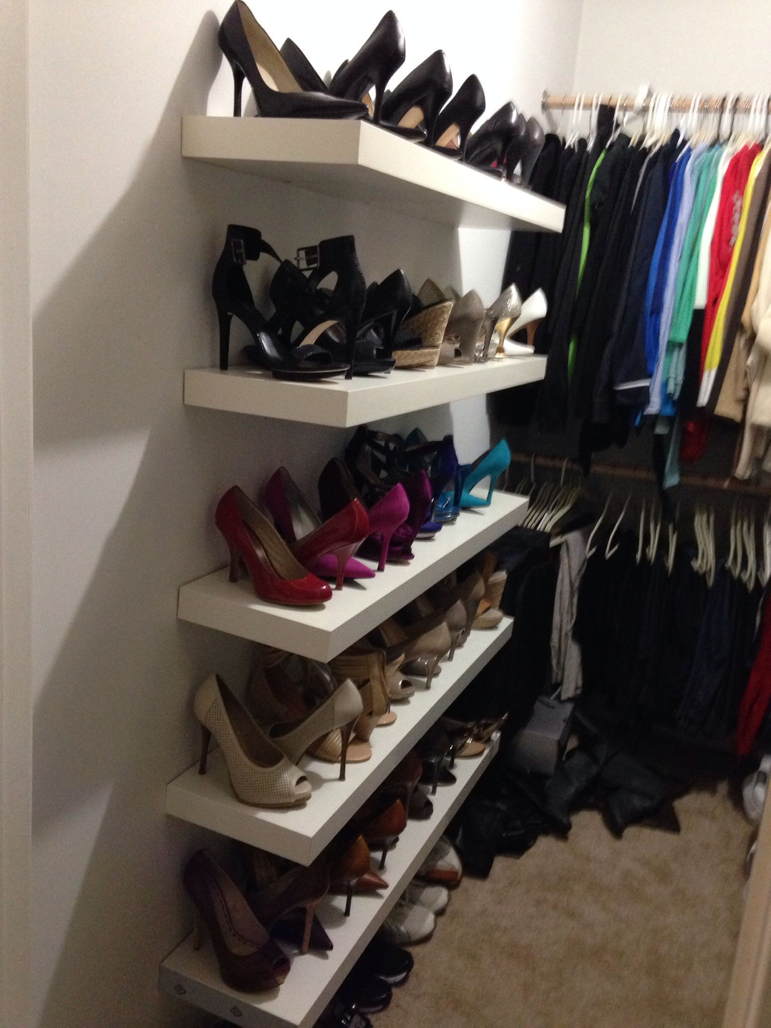 Lack Shelves From Ikea: Shoe Rack And Display