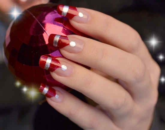 New Year Christmas Nail Art Fancy Collection 2015 For Girls