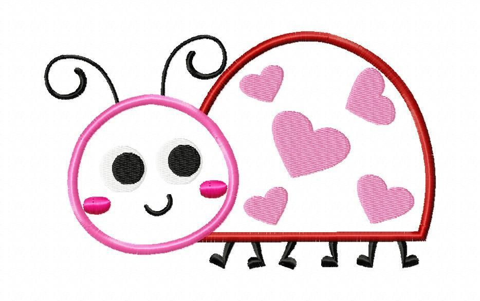 Breezy Lane Embroidery Free Valentines Day Ladybug Applique